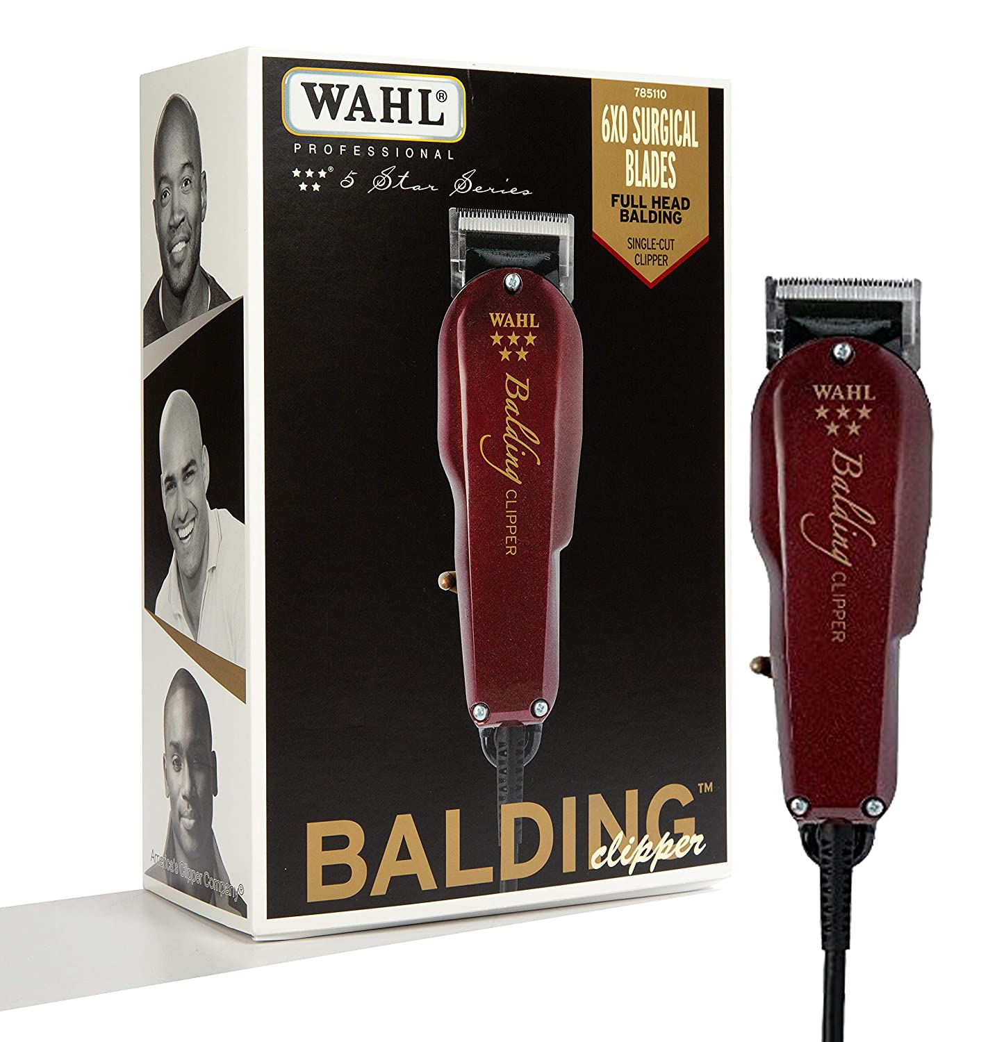 Wahl Professional 5-Star Balding Clipper 8110 Great for Barbers and Stylists Cuts Surgically Close for Full Head Balding Twice the Speed of Pivot Motor Clippers Accessories Included