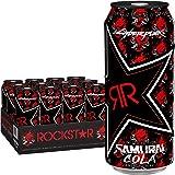 Rockstar Limited Edition Samurai Cola Energy Drink, Caffeine and Taurine, 16 oz cans, 12 Count