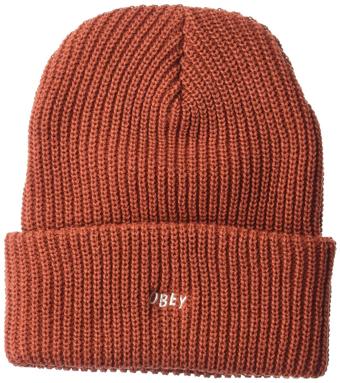 Obey Jumbled Beanie Sombrero Rojo LADRILLO 22419A033: Amazon.es ...