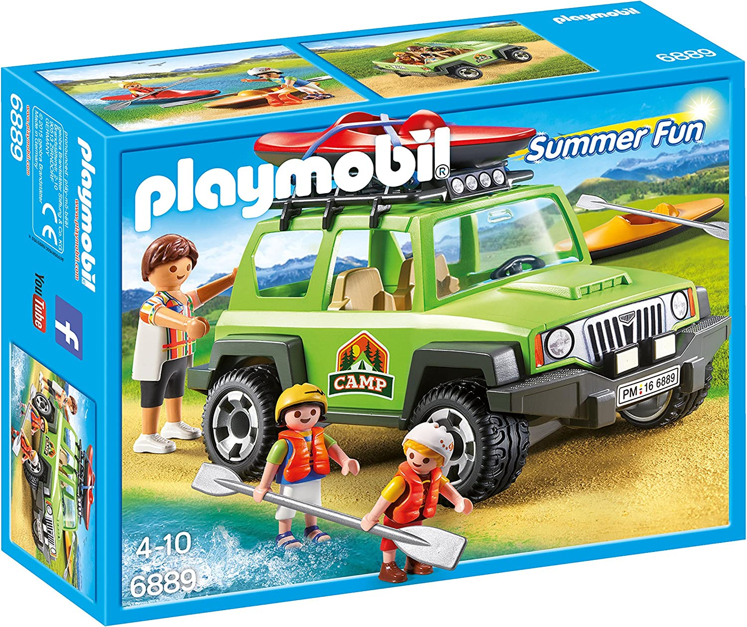 Playmobil Campamento de Verano- Off-Road SUV Playset, Multicolor, Miscelanea (6889)