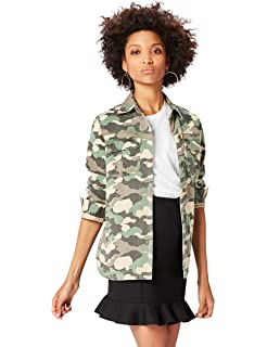 46eef29677dc6 find. Women's Camouflage Oversized Long Sleeve Jacket