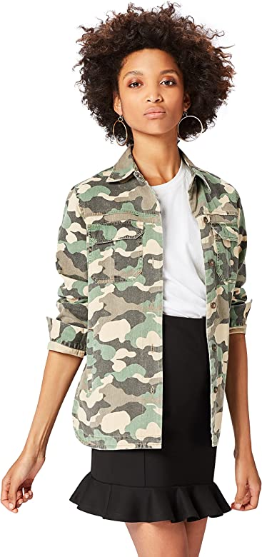 find. Oversized Chaqueta para Mujer, Verde (Camouflage Print ...