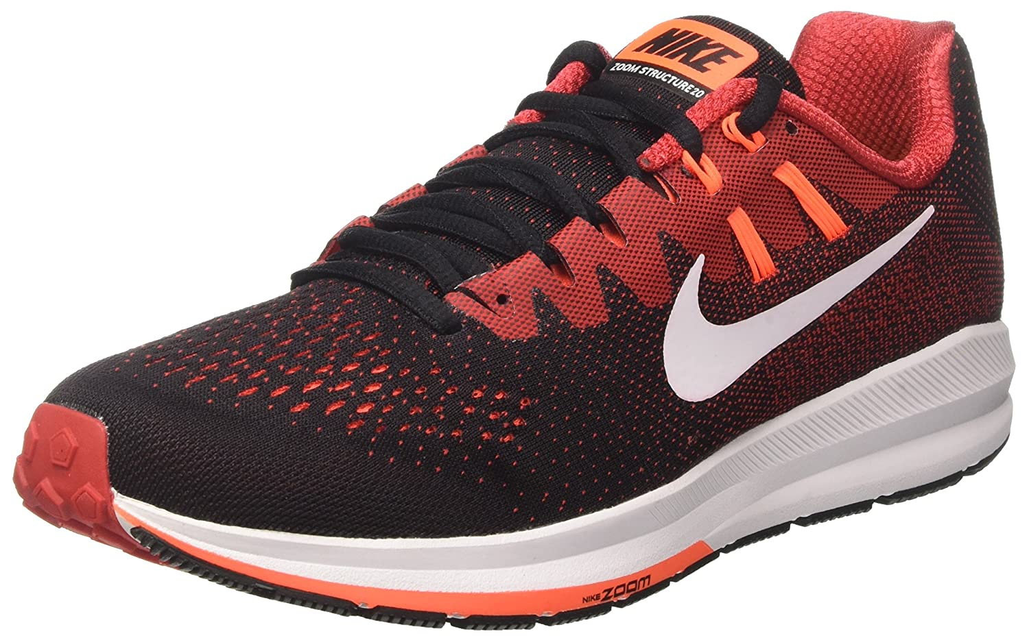 check out ed26e 9c694 Nike Men s Air Zoom Structure 20 Black Red Running Shoes(849576-008)  Buy  Online at Low Prices in India - Amazon.in