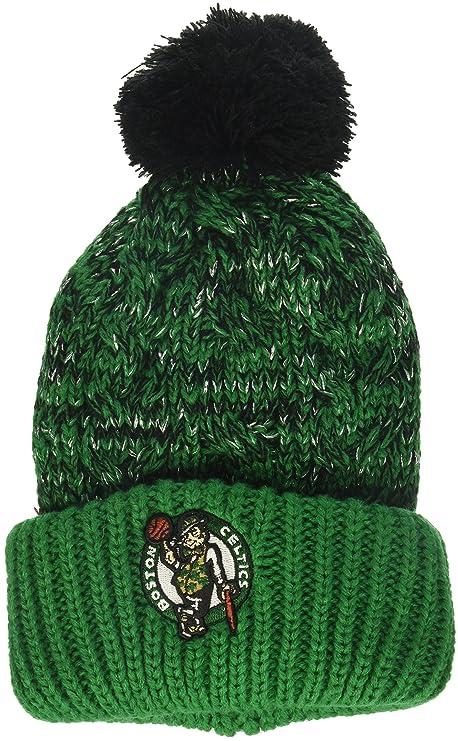 313e11e5d5a68 france nba boston celtics womens brilyn ots cuff knit cap with pom kelly  womens 6c11c 22619