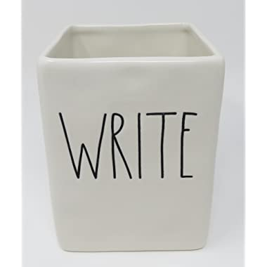 Rae Dunn by Magenta Ceramic WRITE Pen and Pencil Holder