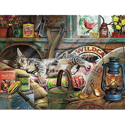 Buffalo Games - Cats Collection - Laid-Back Tom - 750 Piece Jigsaw Puzzle: Toys & Games