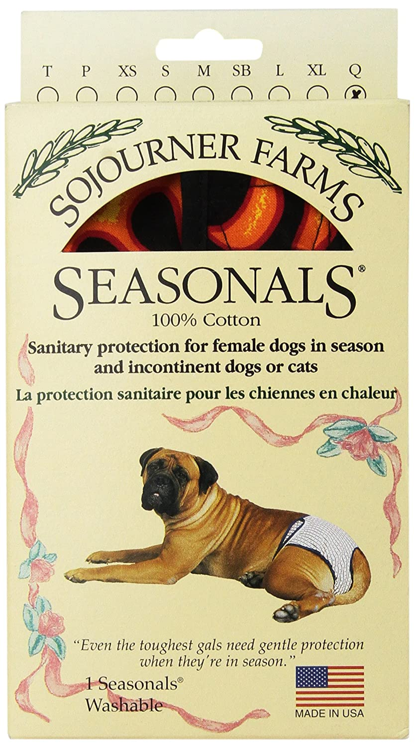Hot Flames QueenSeasonals 41116BLK Washable Dog Diaper, Fits Extra Large Dogs, Black