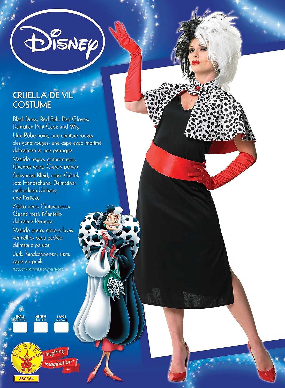 Rubiess - Carnival Costume Cruella de película Mon Disney mujer sexy 101 Dálmatas dálmata: Amazon.es: Juguetes y juegos