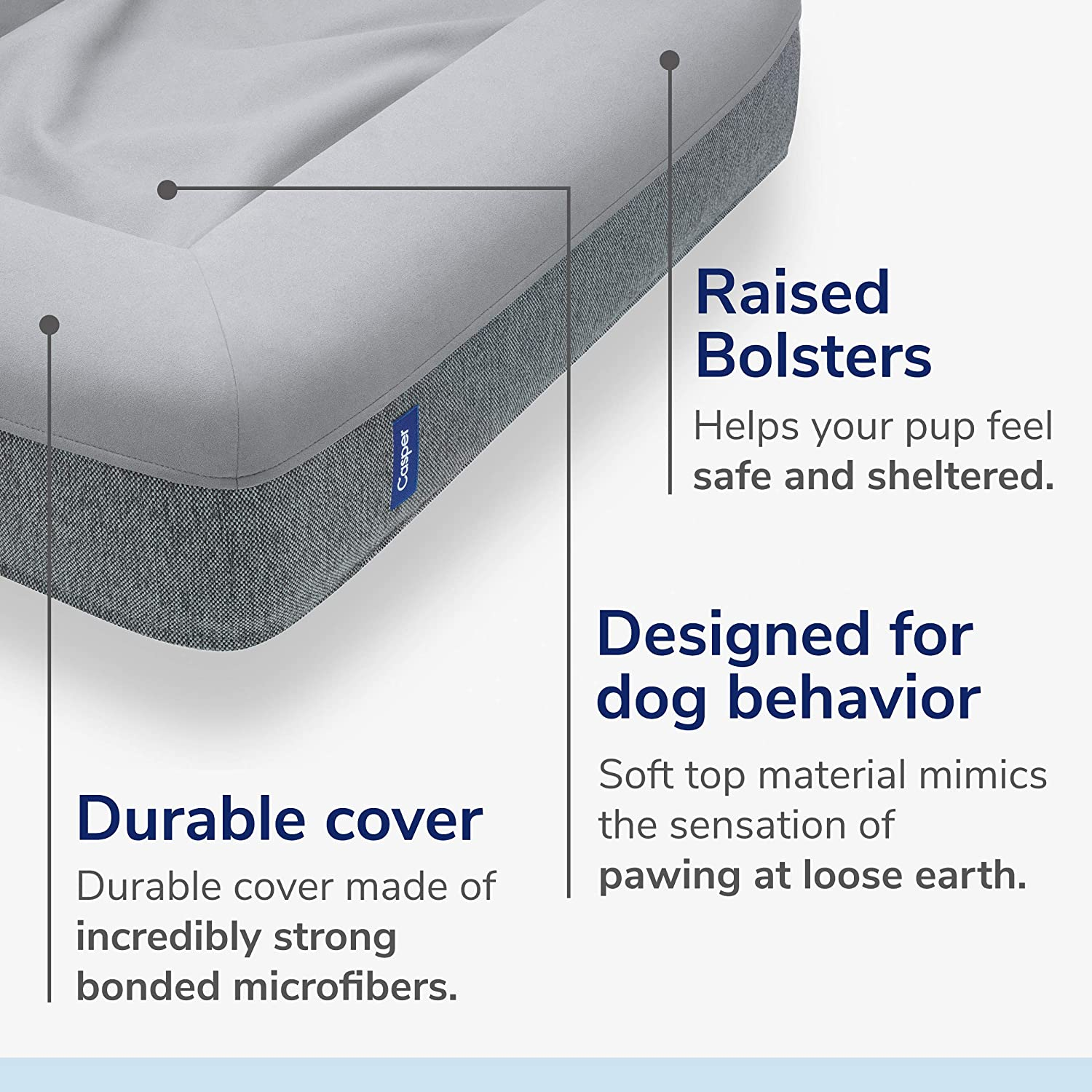 Casper Dog Bed, Plush Memory Foam