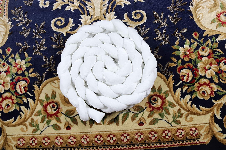 JL Factory New Nordic Plush Stuffer Long Knotted Braid Pillow Baby Crib Bumper Cushion Set Plush Knot Pillow