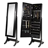 Amazon Price History for:Best Choice Products Black Mirrored Jewelry Cabinet Armoire W Stand Mirror Rings, Necklaces, Bracelets