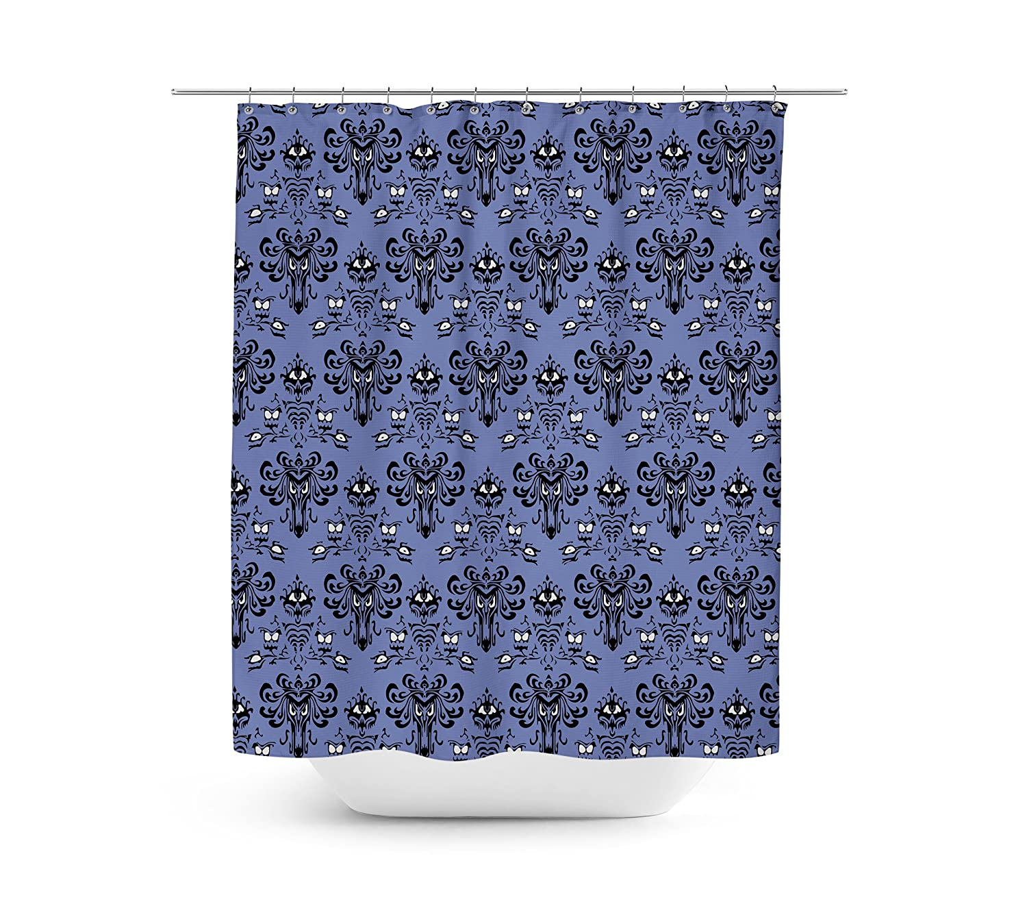 Amazon Queen Of Cases Haunted Mansion Wallpaper Shower Curtain
