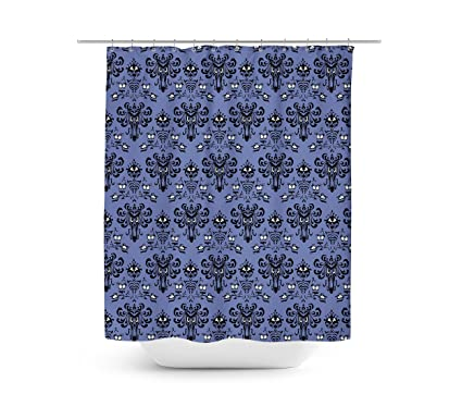Queen Of Cases Haunted Mansion Wallpaper Shower Curtain