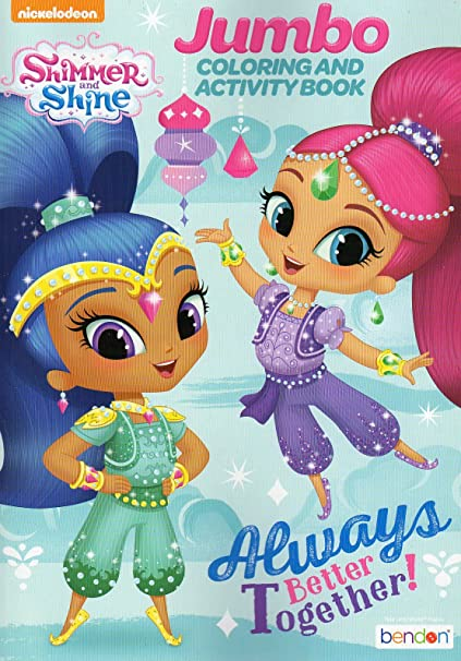 Amazon Com Coloring Activity Book Shimmer And Shine Jumbo Toys Games