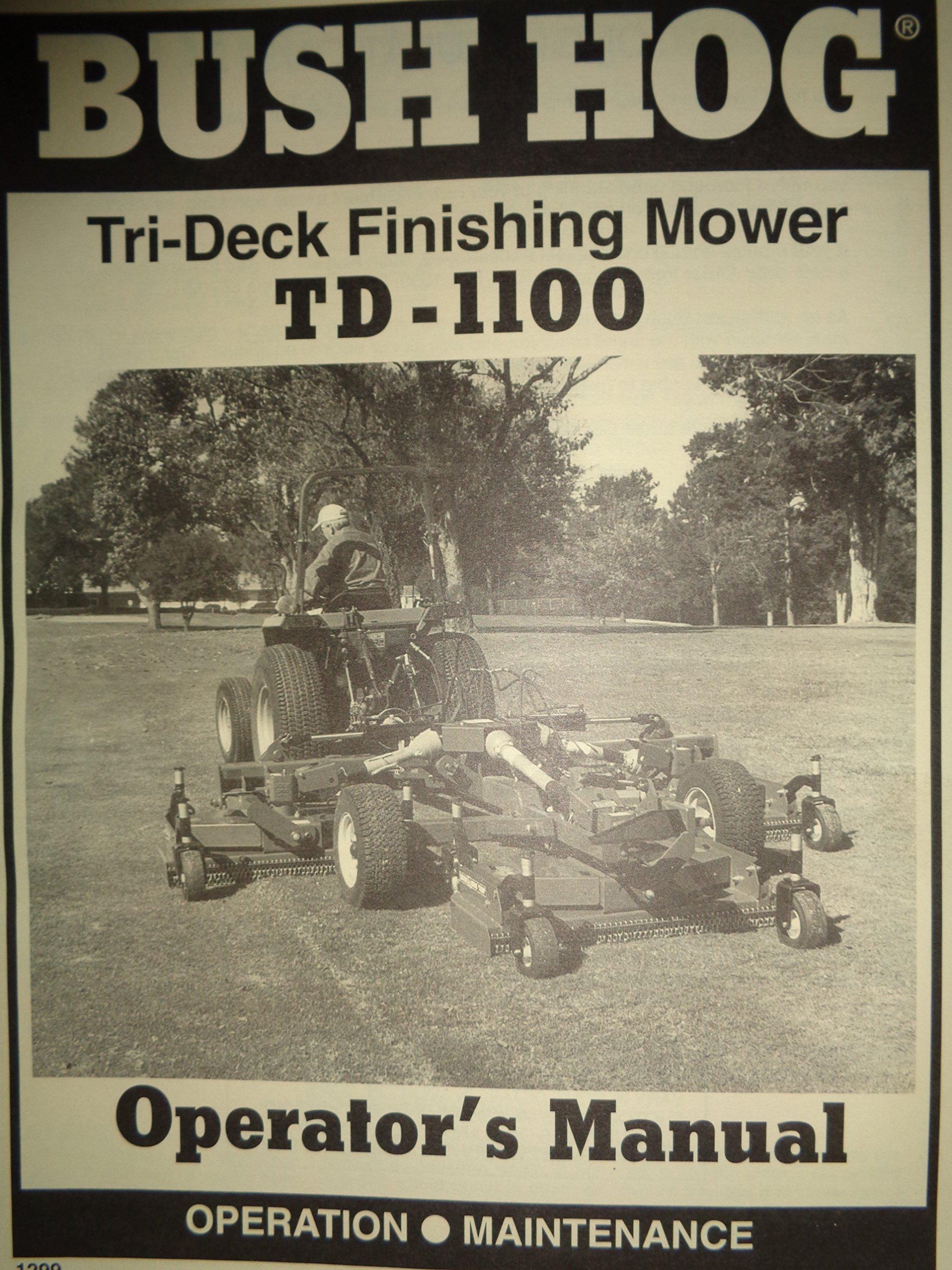 Bush Hog TD-1100 Tri-Deck Finishing Rotary Cutter Mower Operators