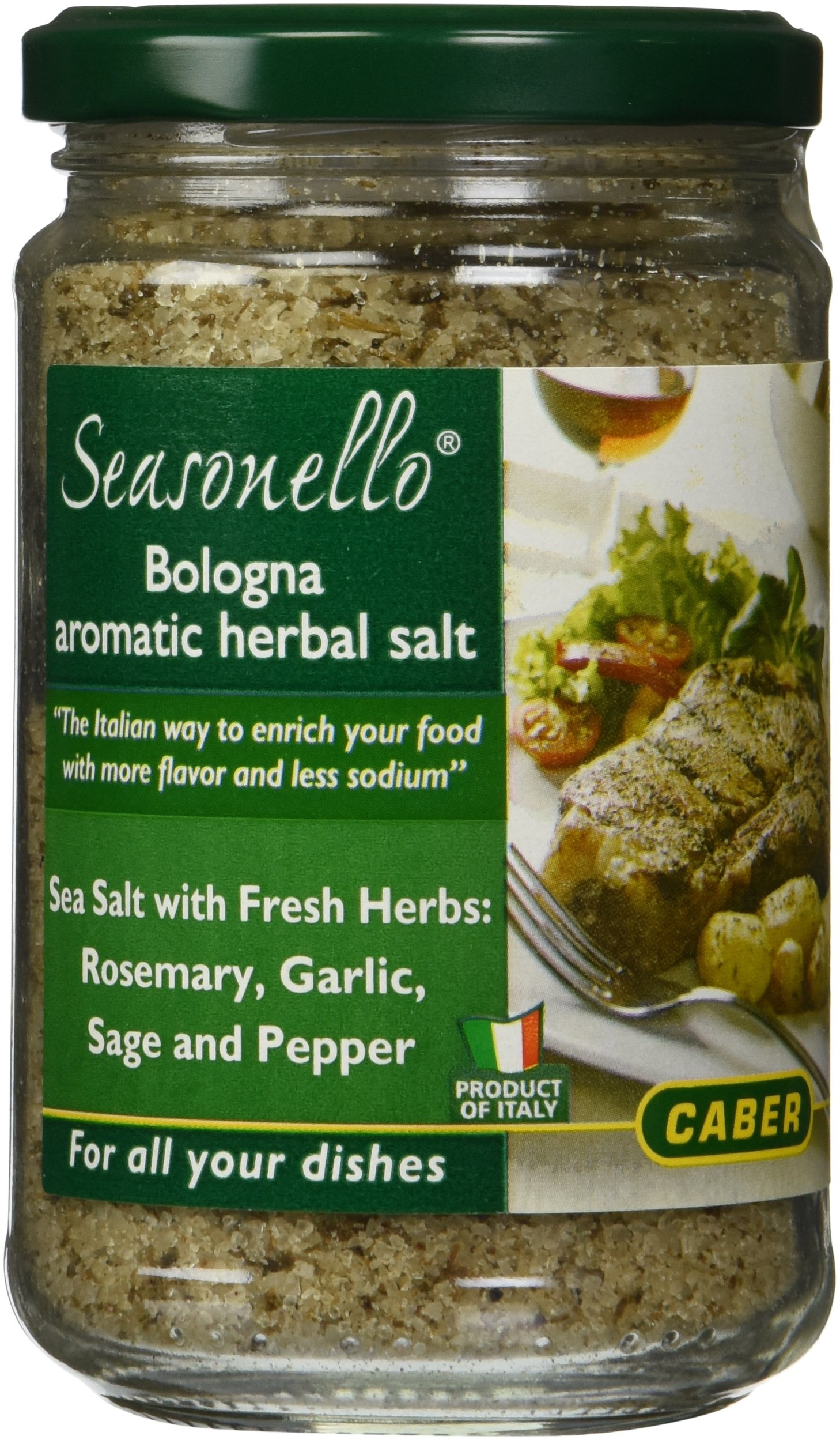 Seasonello Bologna Aromatic Herbal Salt 10.58 oz Each - 4 Jars