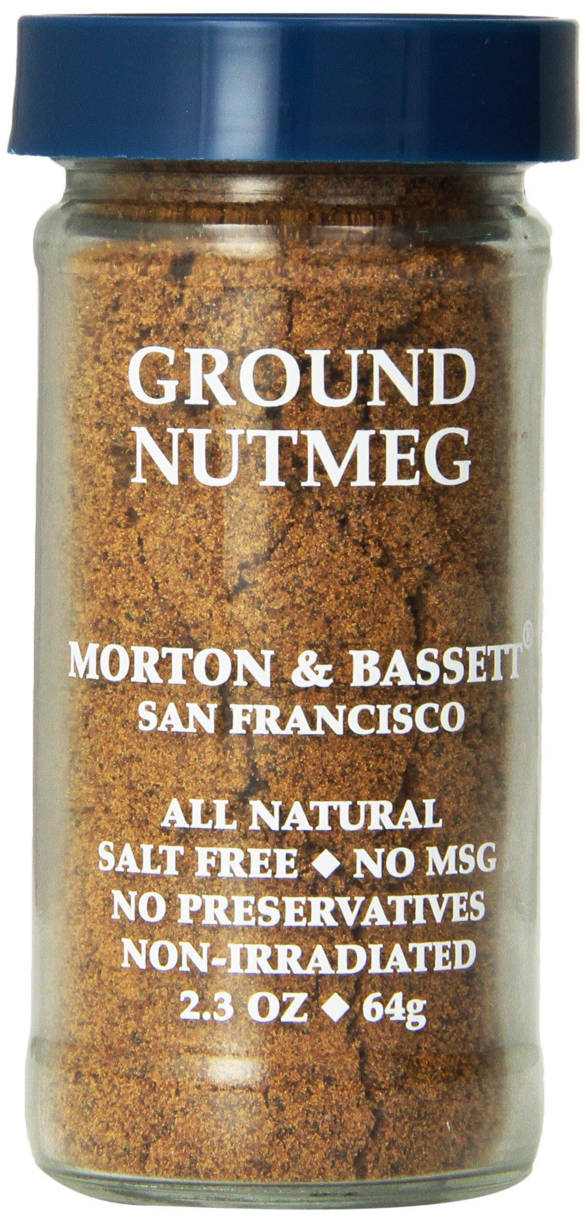 Morton & Bassett Ground Nutmeg, 2.3-Ounce Jars (Pack of 3)