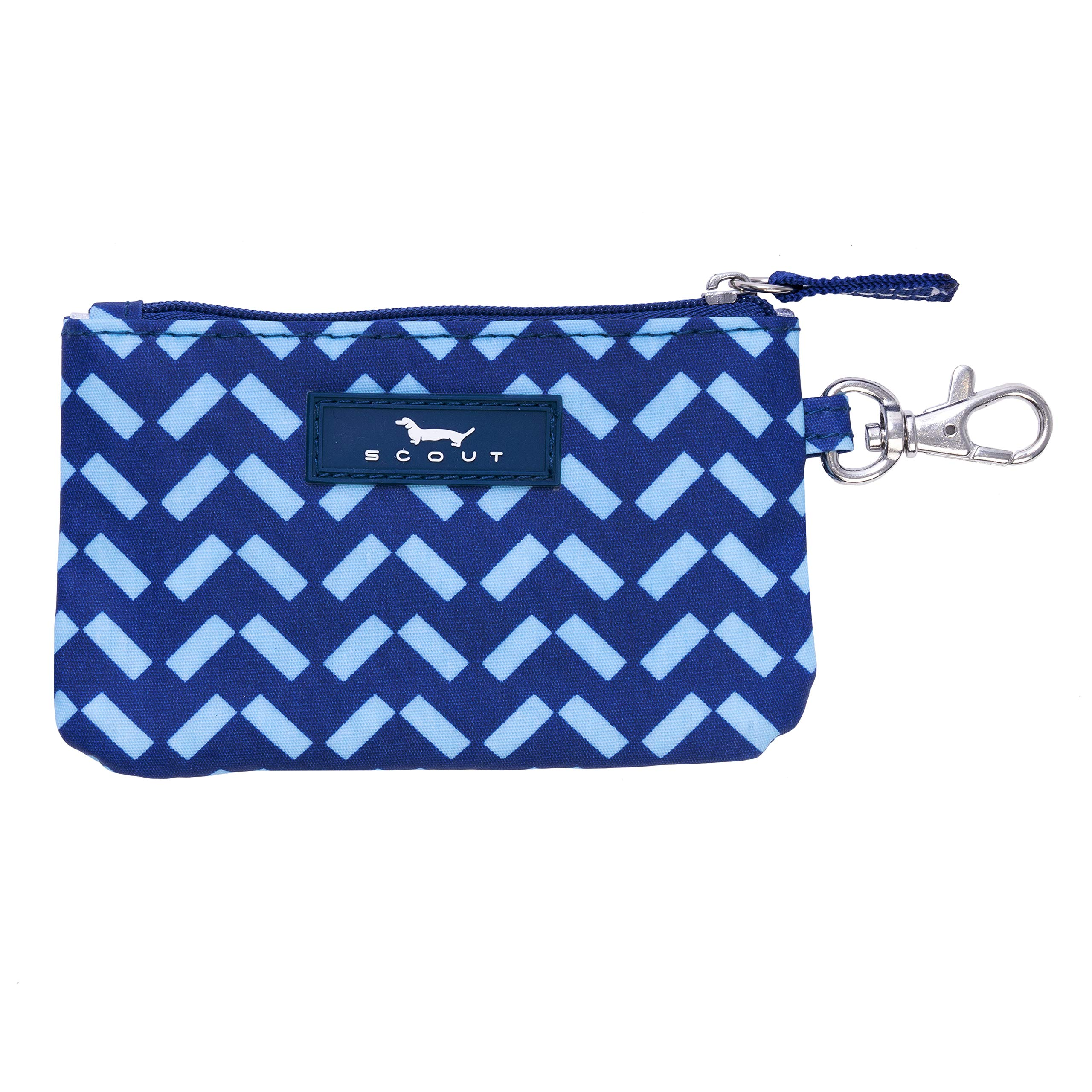 SCOUT IDKase Card Holder or Wallet, ID Holder Window, Key Clasp, Water Resistant, Zips Closed, Winging It