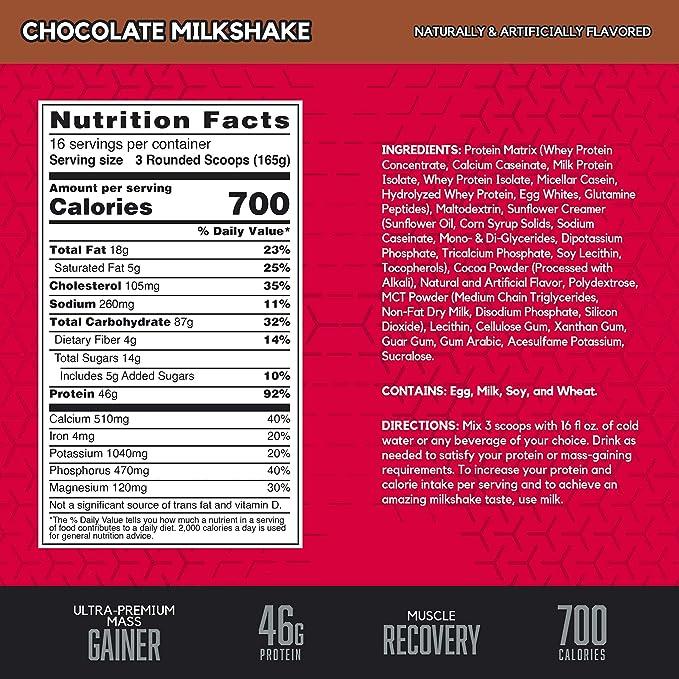 BSN True Mass Ganador en Polvo, Chocolate - 2640 g