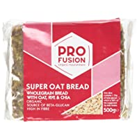 Profusion Organic Rye and Chia Beta Glucan Cholesterol Reducing Super Oat Bread 500g (Pack of 4)