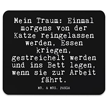 Mr Mrs Panda Mouse Mat Printed With German Text Amazon