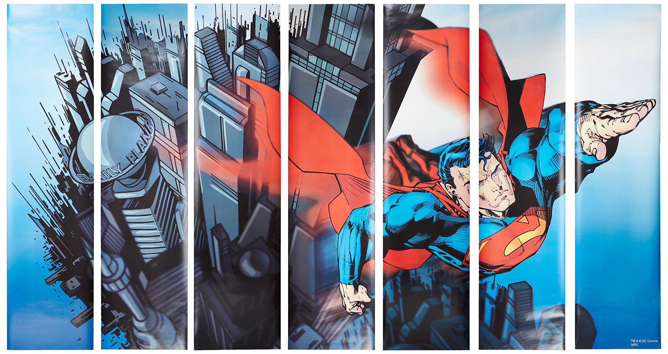 RoomMates JL1064M Superman Prepasted Chair Rail Wall Mural