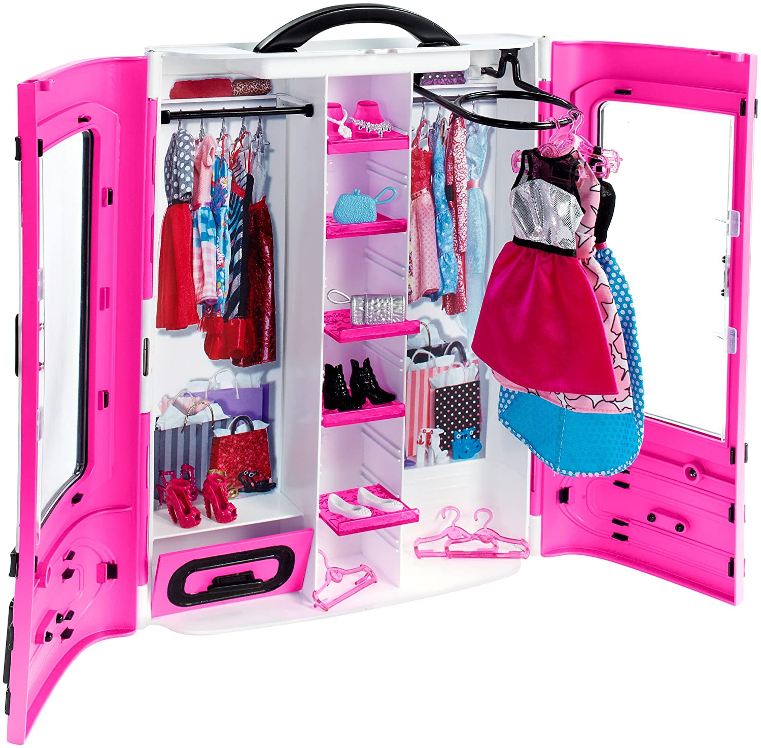 fantastic fashion barbie plate clothes closet