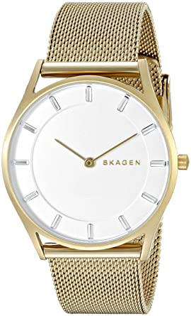 32f7b130fe02 Image Unavailable. Image not available for. Color  Skagen Women s SKW2377  Holst Gold Mesh Watch