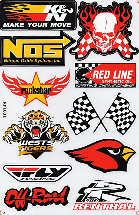 "REDLINE Synthetic Oil Decal Sheet Sticker 2.5/"" X 6/"""