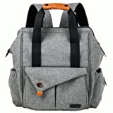 Amazon Price History for:HapTim Multi-function Baby Diaper Bag Backpack with Stroller Straps, Gray