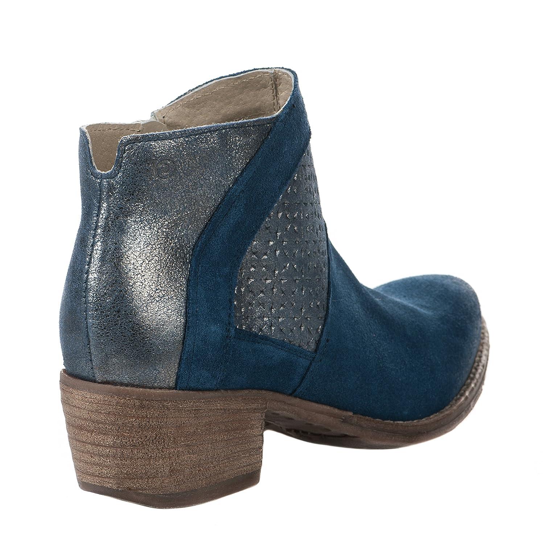 0d5ae2afeba5a Boots femme - KHRIO - Bleu - 2804 - Millim  Amazon.fr  Chaussures et Sacs