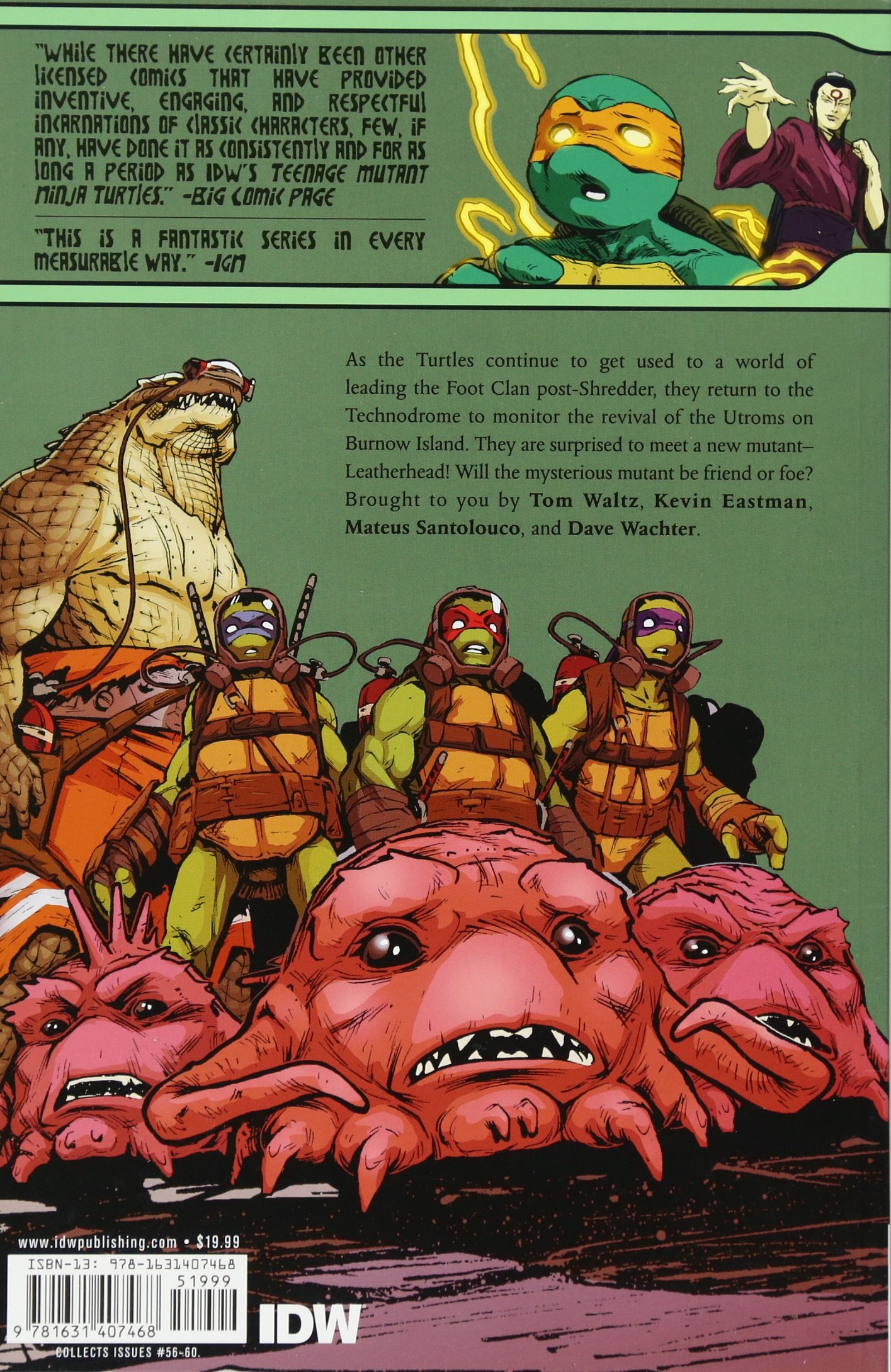 Teenage Mutant Ninja Turtles Volume 15: Leatherhead: Amazon ...