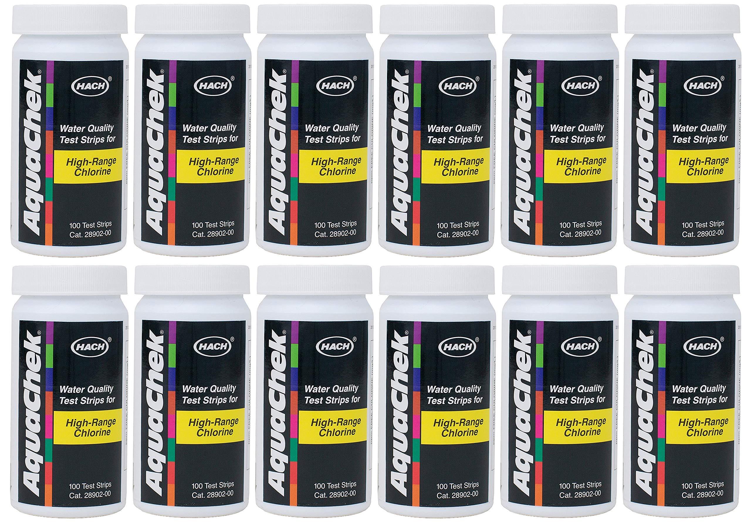 AquaChek High Range Chlorine Test Strips (100 Count) (12 Pack)