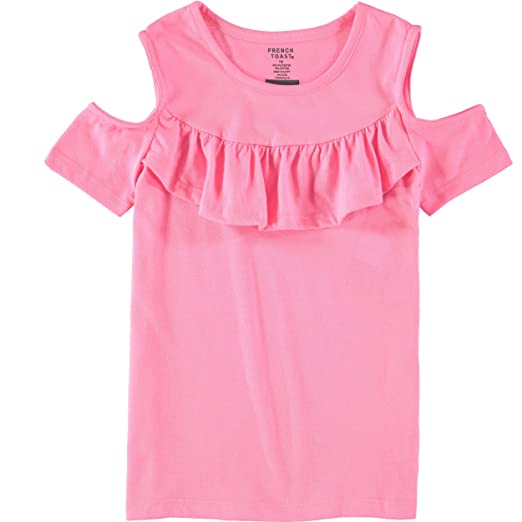 a385fb23af565a Amazon.com  French Toast Girls  Short Sleeve Ruffle Front Top  Clothing