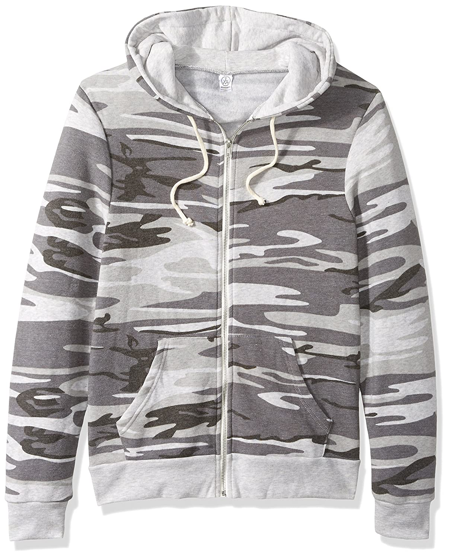 (オルタナティブ)Alternative Rocky Eco-Fleece Zip Hoodie B076C21C72 Large|Oatmeal Camo Oatmeal Camo Large
