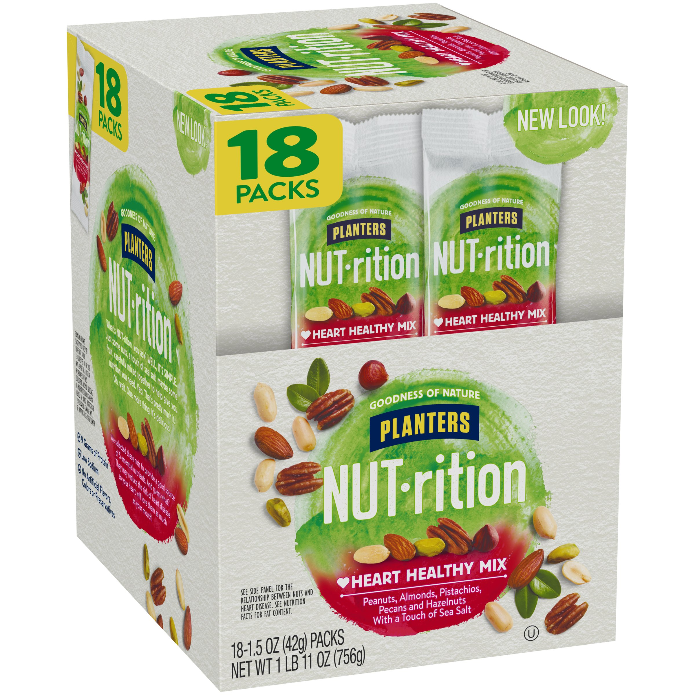 NUTrition Heart Healthy Nut Mix (1.5 oz Bags, Pack of 18) by Planters (Image #5)