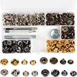 Snap Fastener Kit - 160-Piece Snap Buttons, with 4-Piece Tools,