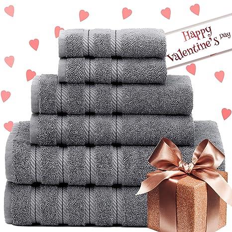 Premium, Hotel de lujo y Spa, 6 piezas Juego de toallas, algodón turco
