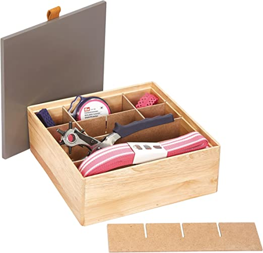 Prym 612575 - Caja organizadora (Madera), Color marrón y Beige ...