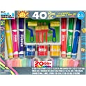 RoseArt Sidewalk Chalk Paint 40-Piece Deluxe Set
