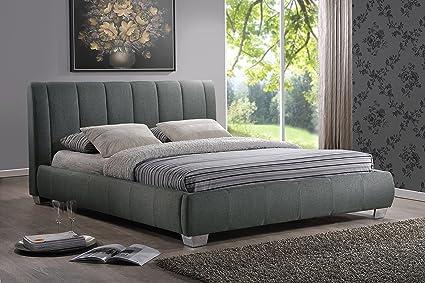Amazon.com: Baxton Studio Marzenia Fabric Upholstered Platform Bed ...