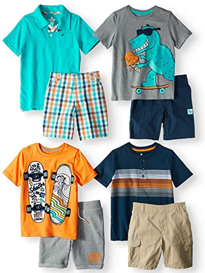 086e4987e Amazon.com: 365 Kids From Garanimals Kid-Pack Mix & Match Gift Box, 8-Piece  Outfit (Little Boys & Big Boys), Blue/Orange, Size 6: Electronics