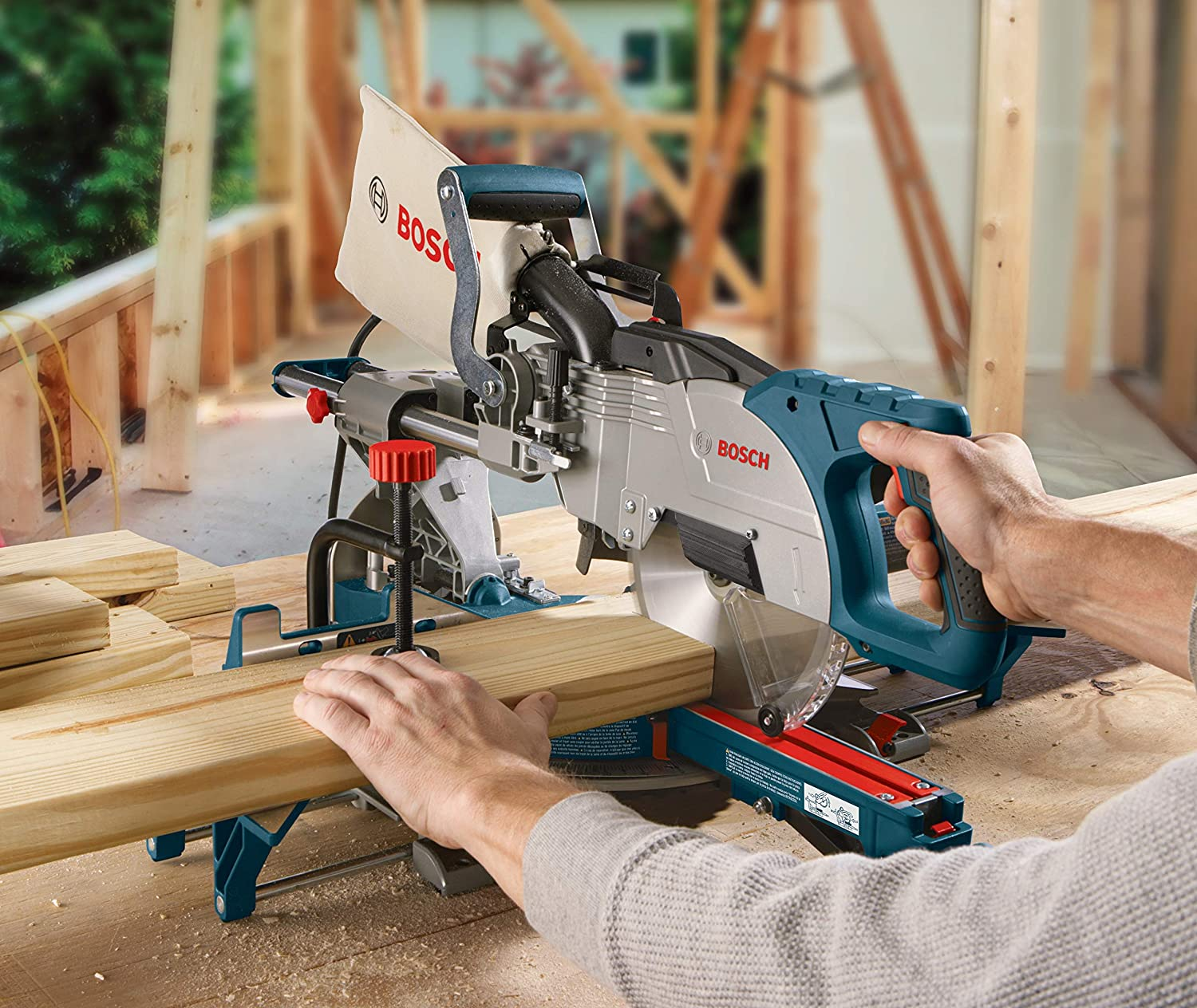 Bosch CM8S Single Bevel Sliding Compound Miter Saw