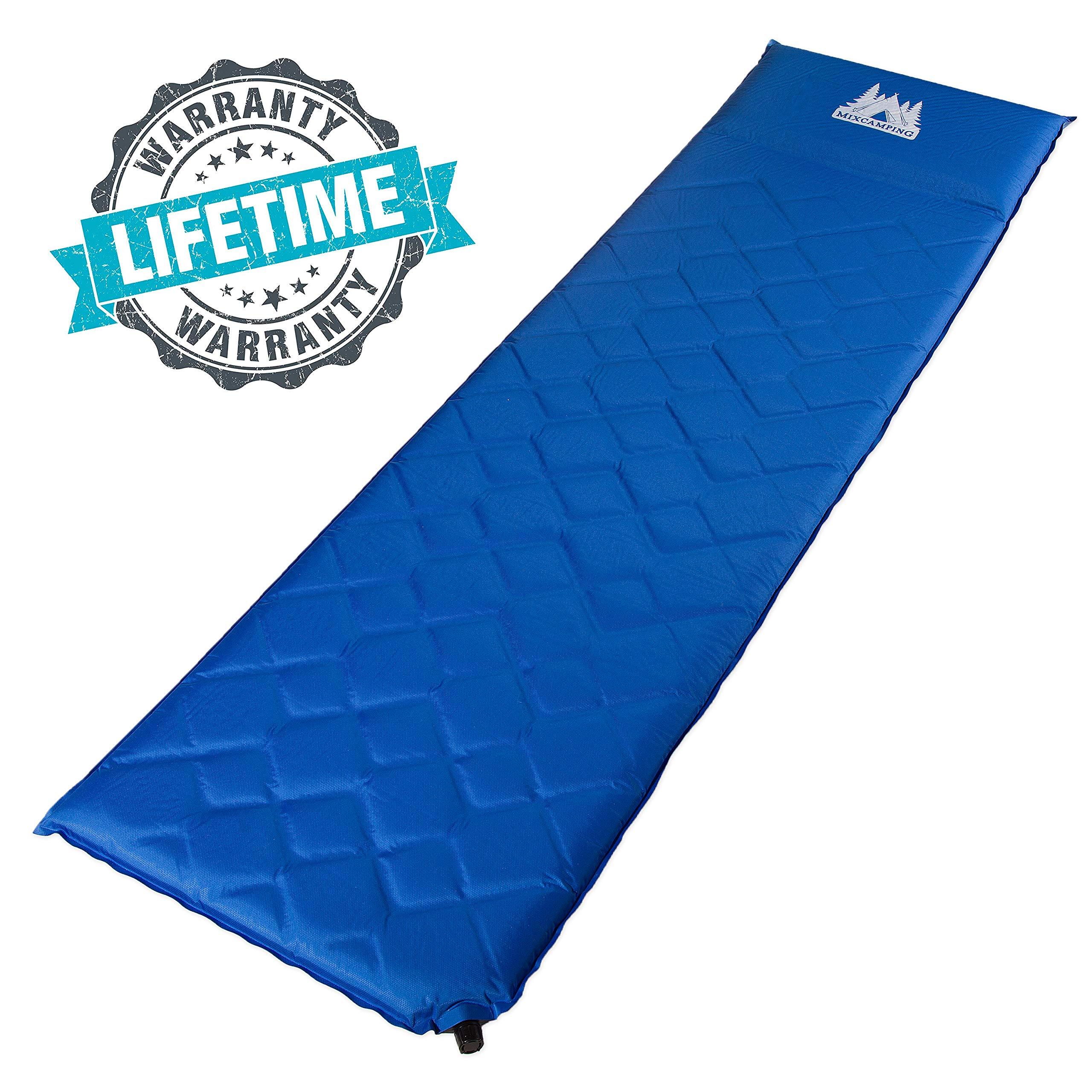 Self Inflating Sleeping Pad - High Insulation Foam Lightweight Camping Mattress for Backpacking and Hiking by MixCamping