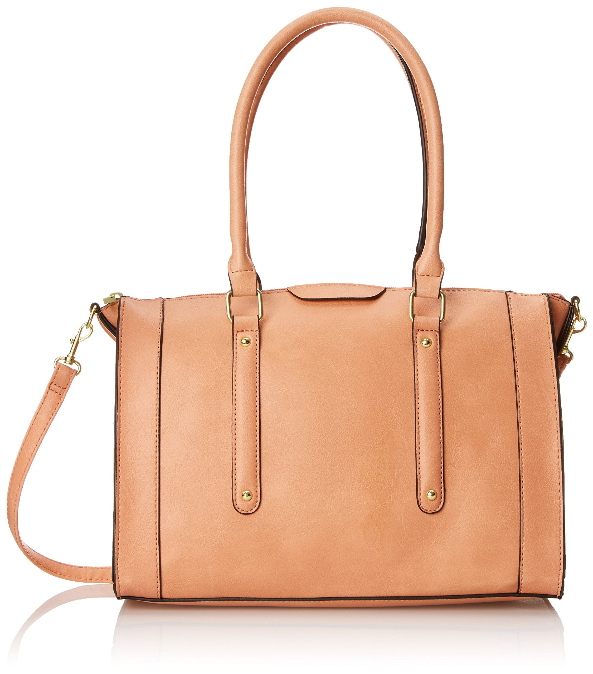 Emilie M. Jolene Satchel Top Handle Bag, Salmon, One Size