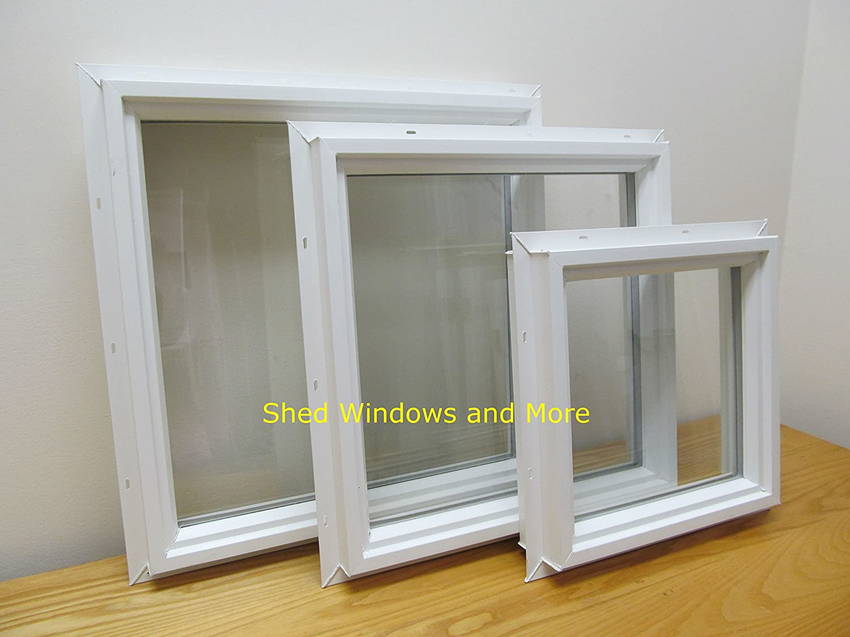 Square Double Pane 12 x 12 Window Vinyl PVC Windows Home Windows Tiny House Windows Playhouse Windows Shed Windows