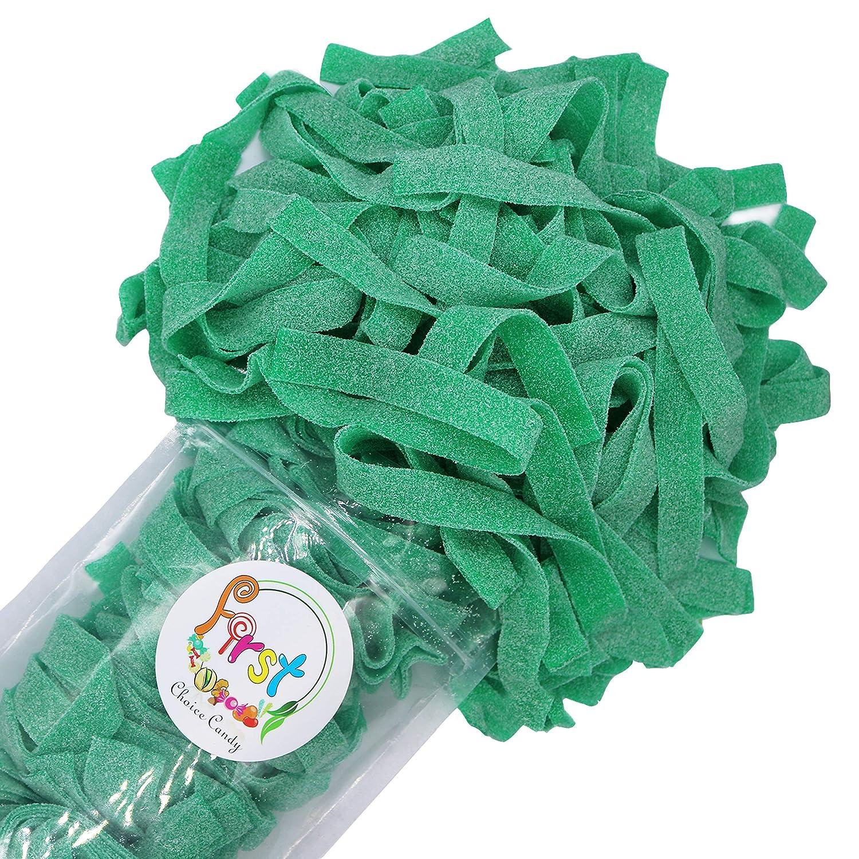 All Color Sour Gummy Belts (Green Apple, 1 LB)