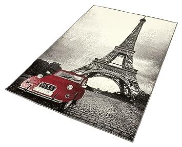 hanse home prime pile 101044 tapis motif paris 140 x 200 cm - Tapis Paris