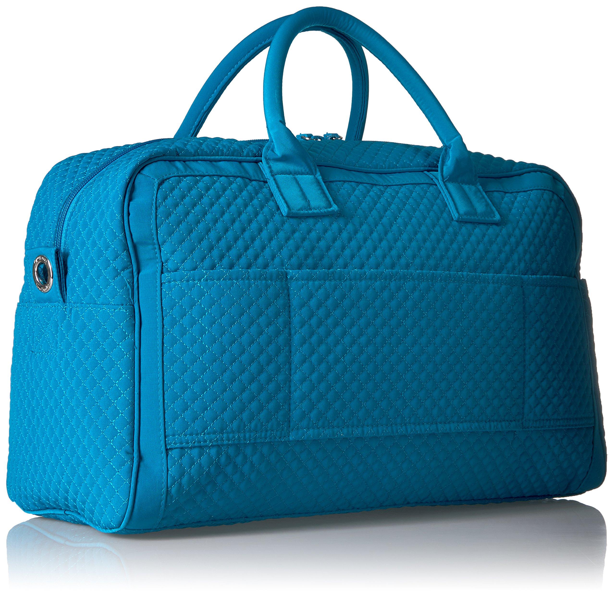 Vera Bradley Women's Iconic Compact Weekender Travel Bag Vera, Bahama Bay by Vera Bradley (Image #2)
