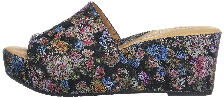 Gentle Slip Souls Women's Forella Platform Slip Gentle Slide Sandal B074CKR8HK 8 M US Black/Flower 922cc4